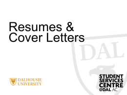 Today's objectives… - Dalhousie University