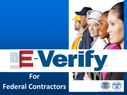 E-Verify for Federal Contractors