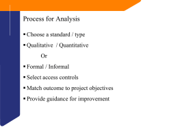 Process for Analysis