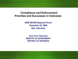 Environmental Compliance and Enforcement in Indonesia
