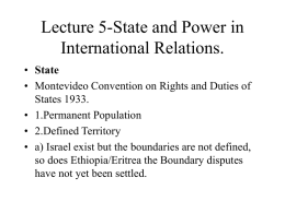 Lecture 14-State and Power in International Relations.