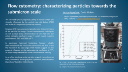 Flow cytometry: characterizing particles towards the