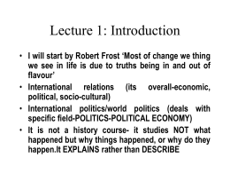 Lecture 1: Introduction - Midlands State University
