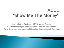 "ACCE ""Show Me The Money"""