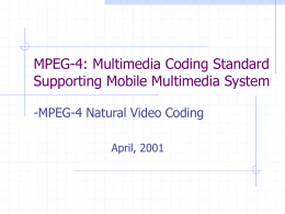 MPEG-4 Natural Video Coding
