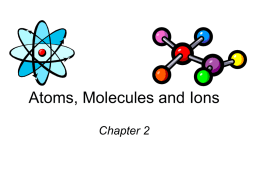Atoms, Molecules and Ions - Tutor
