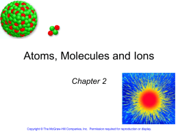 Atoms, Molecules and Ions - Grandview C