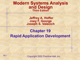 Modern Systems Analysis and Design Joey F. George Jeffrey