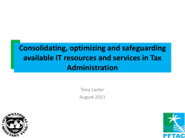 Consolidating, optimizing and safeguarding available IT