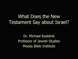 Interpreting Messianic Prophecy General Principle: