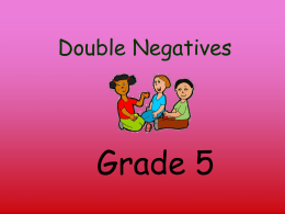 Double Negatives - Rutherford County Schools