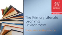 Primary literate learning PowerPoint