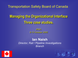Vandalism and Rail Operations in Canada