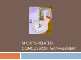Sports-Related Concussion Management