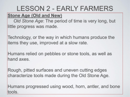 LESSON 2 - EARLY FARMERS