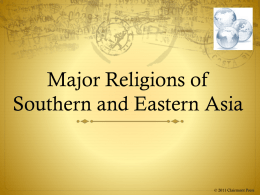 Major Religions of Southern and Eastern Asia