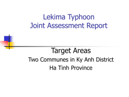 Lekima Typhoon Joint Assessment Report