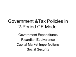 Government Sector and Fiscal Policy