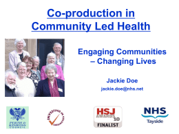Perth and Kinross Healthy Communities Collaborative
