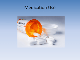 Medication Use - Manchester University