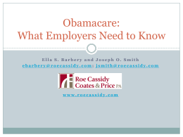 Obamacare: What Employers Need to Know