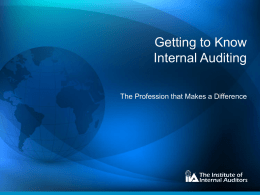 Getting to Know Internal Auditing