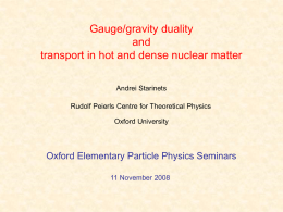 Transport properties of strongly coupled gauge theories