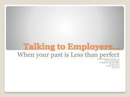 Talking to Employers…