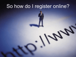 So how do I register online?