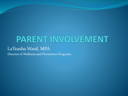 PARENT INVOLVEMENT - Archdiocese of Chicago
