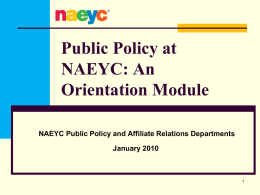 Policy at NAEYC