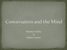 Conversation and the Mind - Tennessee Technological University