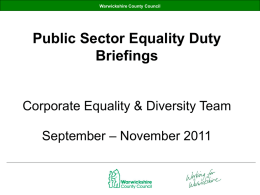 Public sector equality duty briefings sept