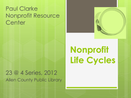 Nonprofit Life Cycle