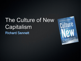 The Culture of New Capitalism
