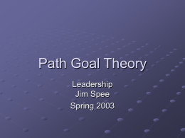 Path Goal Theory - Management Class