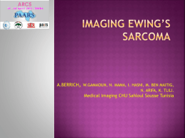 IMAGING EWING'S SARCOMA