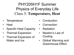 PHY205 Physics of Everyday Life