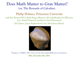 Does Math Matter to Gray Matter? (or, The Rewards of