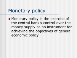 Instruments of monetary policy (credit control)
