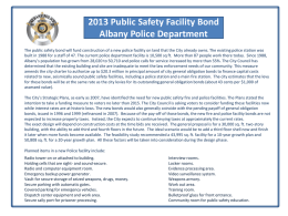 2013 Public Safety Facility Bond