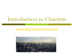 Introduction to Chartism PPT