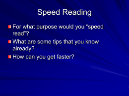 Steps to reading faster