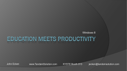 Education Meets Productivity