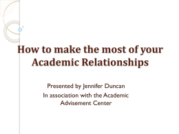 How to make the most of your Academic Advising Meeting