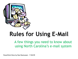 Rules for Using E-Mail