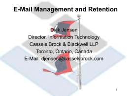 1) Email Management and Retention