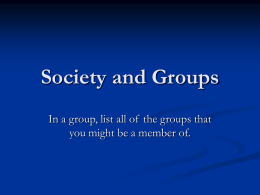 Society and Groups - U