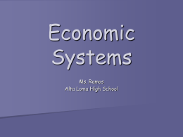 Economic Systems - ePortfolio Home Page