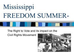 Mississippi Freedom Summer-